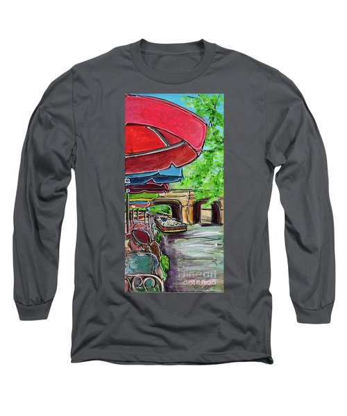 San Antonio River Walk Cafe Long Sleeve T-Shirt