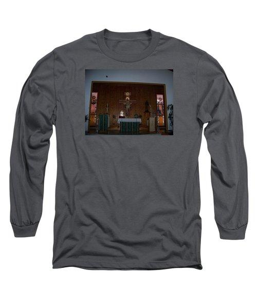 San Bernardo Abad,la Virgen Milagrosa Long Sleeve T-Shirt