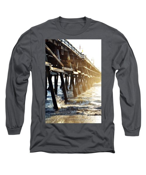 Long Sleeve T-Shirt featuring the photograph San Clemente Pier Magic Hour by Kyle Hanson