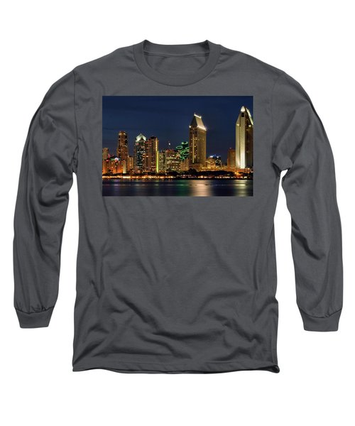 San Diego Night Long Sleeve T-Shirt