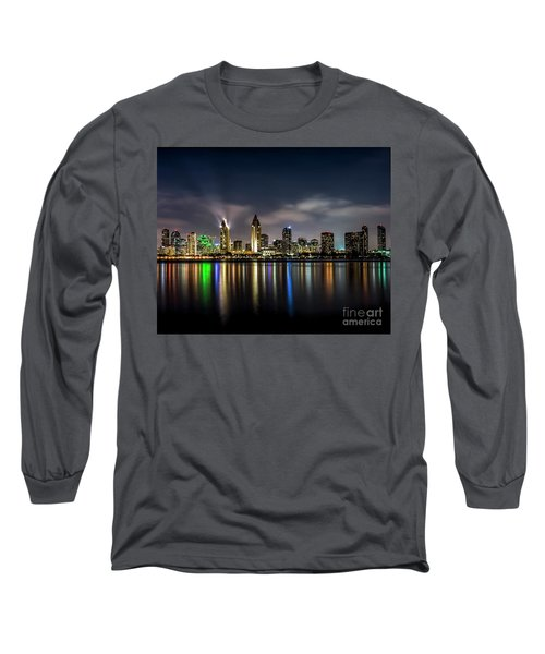 San Diego Skyline At Night Long Sleeve T-Shirt