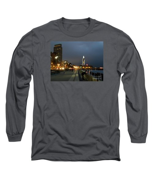 Long Sleeve T-Shirt featuring the photograph San Francisco Bay At Night by Haleh Mahbod