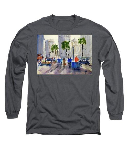 San Francisco Embarcadero Long Sleeve T-Shirt by Tom Simmons