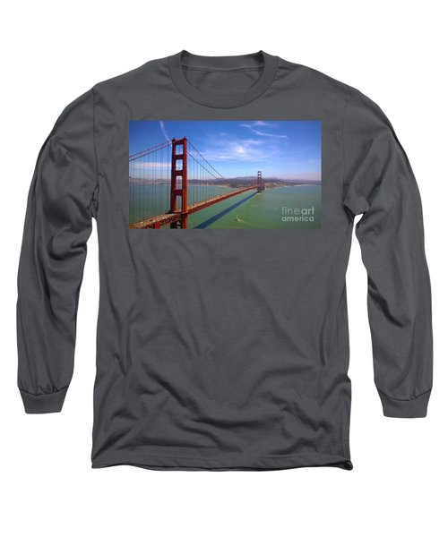 San Francisco Golden Gate Bridge Long Sleeve T-Shirt by Debra Thompson