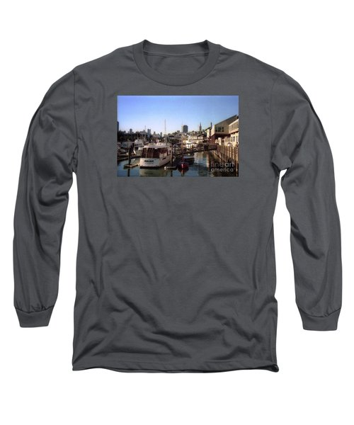San Francisco Pier And Boats Long Sleeve T-Shirt by Ted Pollard