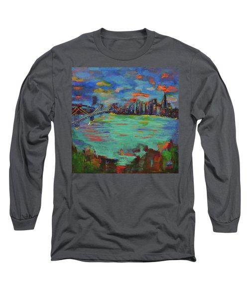 San Francisco Skyline In Sunset Long Sleeve T-Shirt