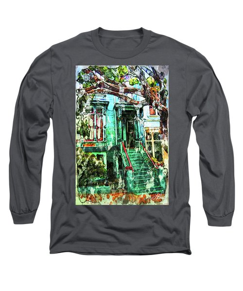San Francisco Victorian Long Sleeve T-Shirt by Joan Reese