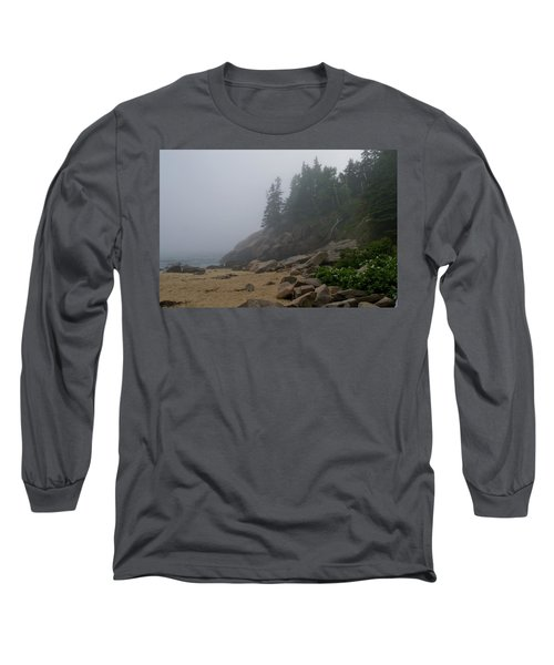 Sand Beach In A Fog Long Sleeve T-Shirt