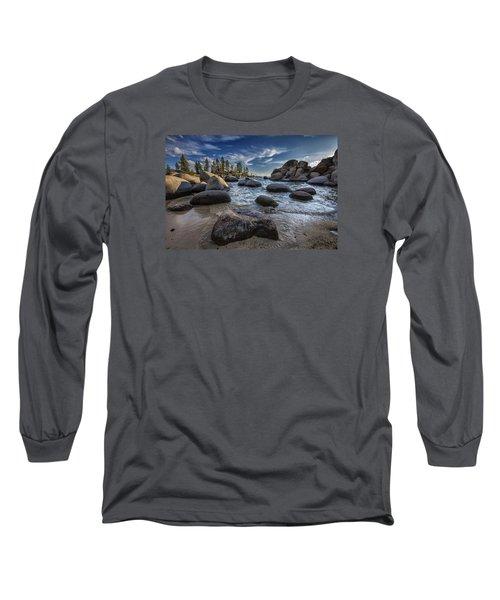 Sand Harbor II Long Sleeve T-Shirt by Rick Berk