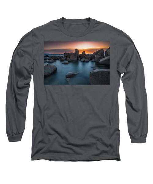 Sand Harbor Sunset Long Sleeve T-Shirt