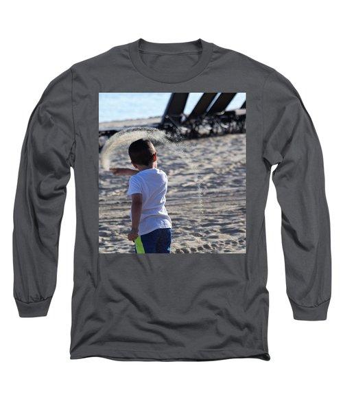 Sand Rainbow Long Sleeve T-Shirt by John Glass