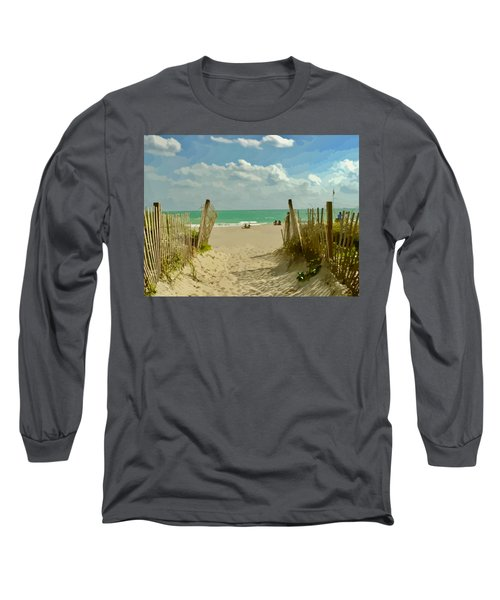 Sand Track To The Beach Long Sleeve T-Shirt