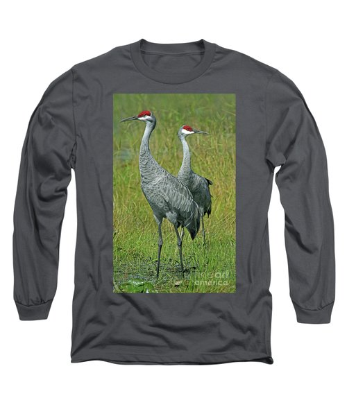 Sandhill Cranes He And She Long Sleeve T-Shirt