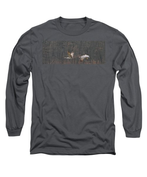 Sandhills In Flight Long Sleeve T-Shirt by Shari Jardina