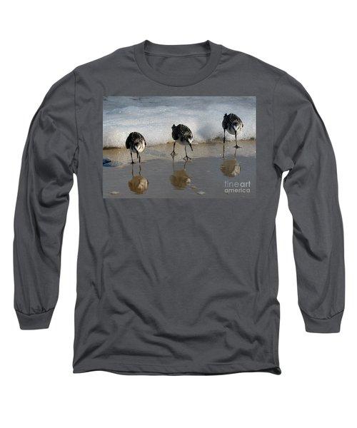 Sandpipers Feeding Long Sleeve T-Shirt