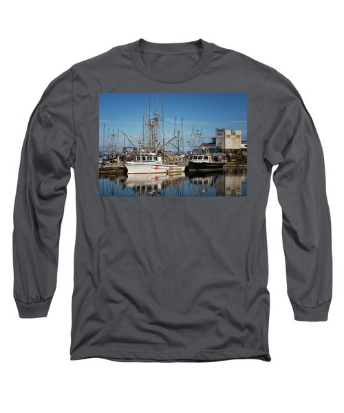 Long Sleeve T-Shirt featuring the photograph Sandra M And Lasqueti Dawn by Randy Hall
