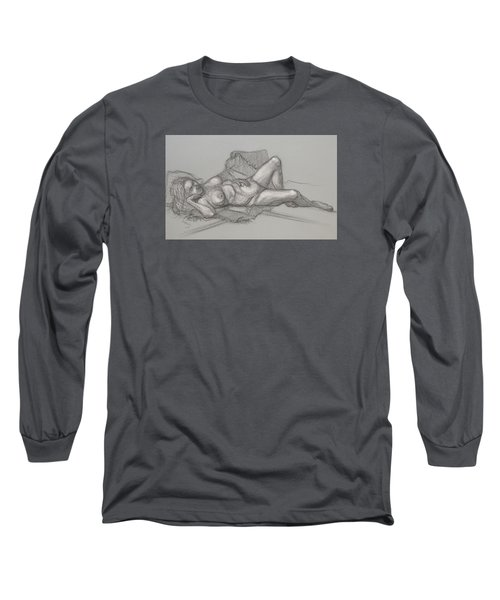 Sandra Sleepimg Long Sleeve T-Shirt by Donelli  DiMaria