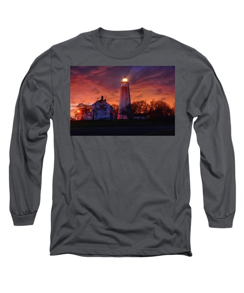 Sandy Hook Lighthouse Long Sleeve T-Shirt