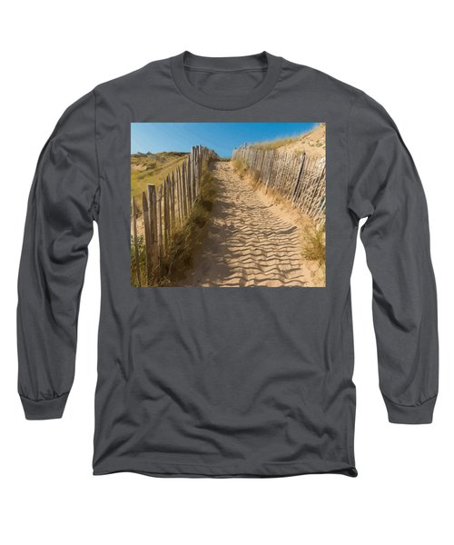 Sandy Pathway To The Beach Long Sleeve T-Shirt