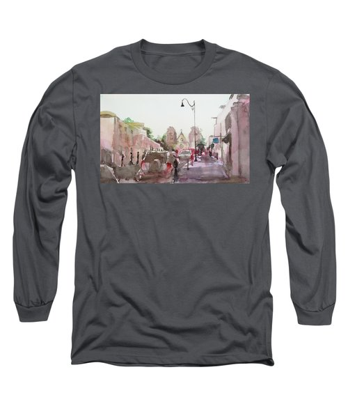 Sanfransisco Street Long Sleeve T-Shirt by Becky Kim