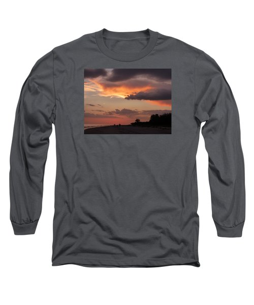 Sanibel At Dusk Long Sleeve T-Shirt by Melinda Saminski