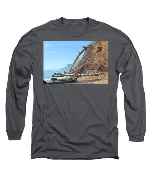 Santa Barbara Coast Long Sleeve T-Shirt by Viktor Savchenko