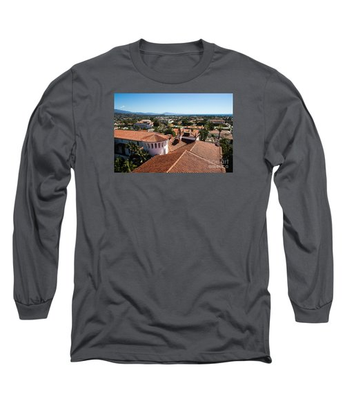 Santa Barbara From Above Long Sleeve T-Shirt by Suzanne Luft