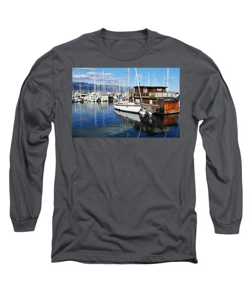 Long Sleeve T-Shirt featuring the photograph Santa Barbara Harbor by Kyle Hanson