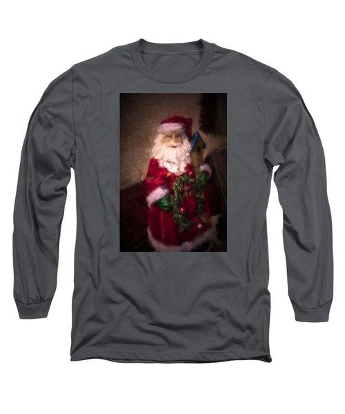 Santa Claus Long Sleeve T-Shirt by Cathy Jourdan