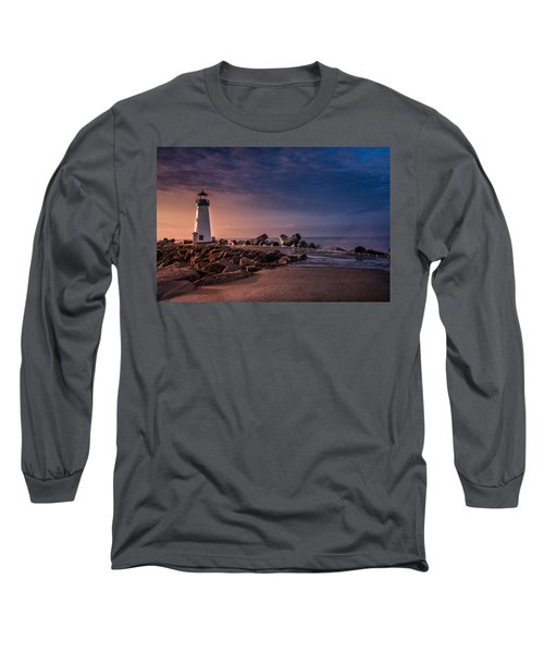 Santa Cruz Harbor Walton Lighthouse Long Sleeve T-Shirt
