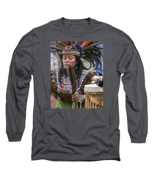 Santa Fe - La Shamana Long Sleeve T-Shirt by Allen Sheffield
