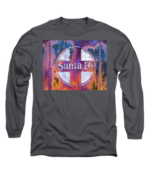 Long Sleeve T-Shirt featuring the photograph Santa Fe Rr by Lou Novick