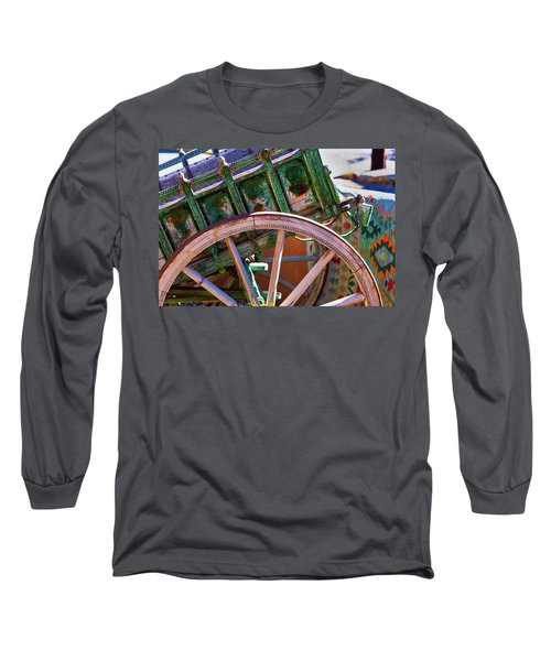 Long Sleeve T-Shirt featuring the photograph Santa Fe Spokes by Stephen Anderson