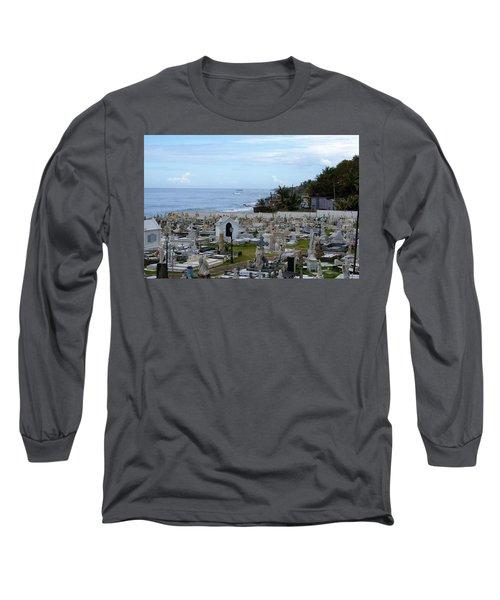Long Sleeve T-Shirt featuring the photograph Santa Maria Magdalena De Pazzis Cemetery, Old San Juan by Lois Lepisto