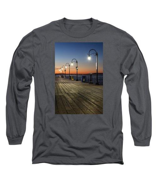 Santa Monica Pier Lights Long Sleeve T-Shirt