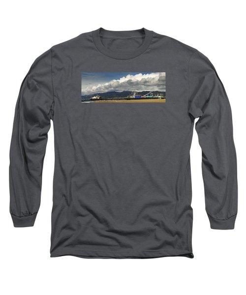 Santa Monica Pier Pan Long Sleeve T-Shirt by Joe  Palermo