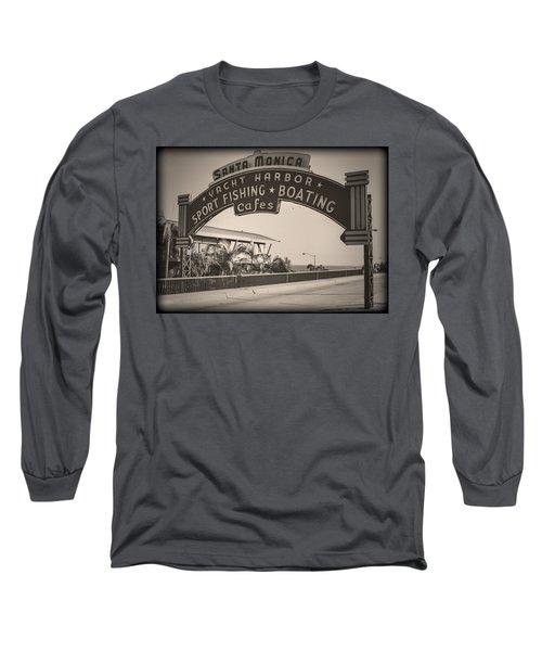 Santa Monica Sign Series Modern Vintage Long Sleeve T-Shirt