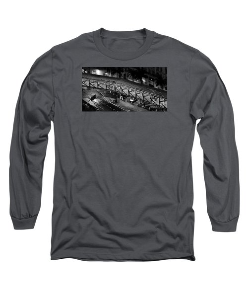 Sao Paulo - Metallic Footbridge At Night Long Sleeve T-Shirt