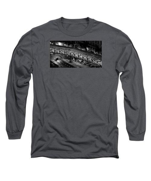 Sao Paulo - Metallic Footbridge At Night Long Sleeve T-Shirt