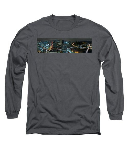 Sao Paulo Skyline Modern Corporate Districts Brooklin Morumbi Chacara Santo Antonio Long Sleeve T-Shirt