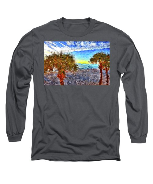 Sarasota Beach Florida Long Sleeve T-Shirt by Joan Reese