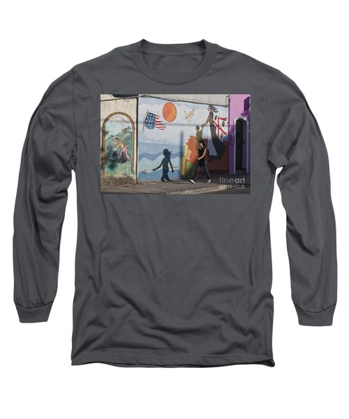 Long Sleeve T-Shirt featuring the photograph Sardinia Wall Painting  by Juergen Held