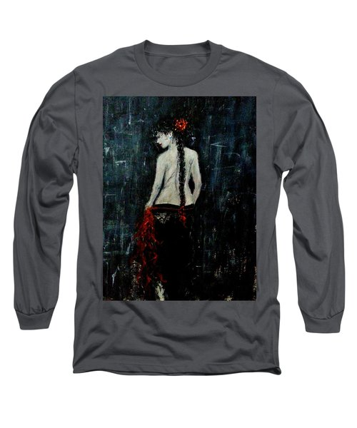 Long Sleeve T-Shirt featuring the painting Saturday Evening  by Cristina Mihailescu