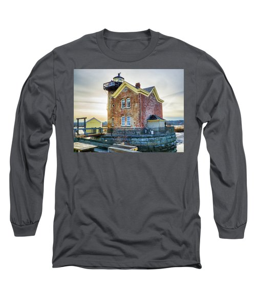 Long Sleeve T-Shirt featuring the photograph Saugerties Lighthouse by Nancy De Flon