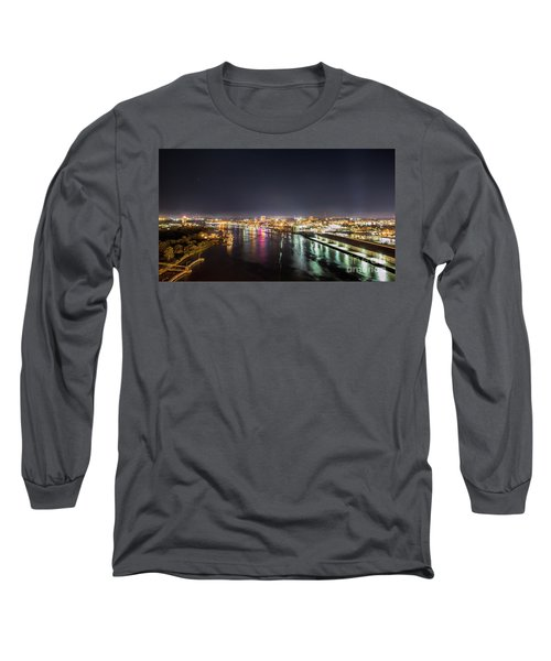 Savannah Georgia Skyline Long Sleeve T-Shirt