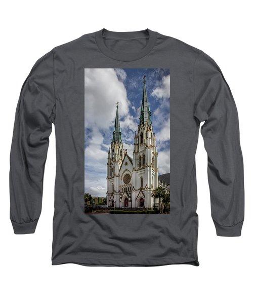Savannah Historic Cathedral Long Sleeve T-Shirt