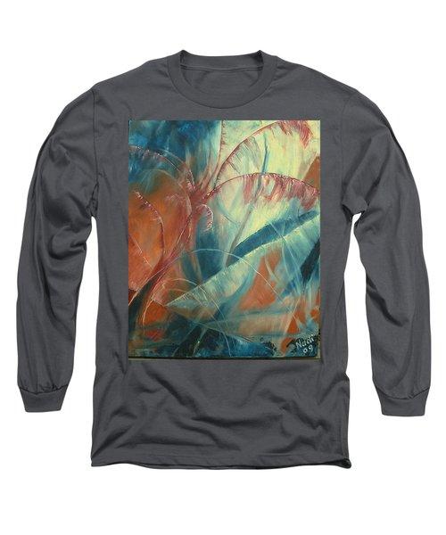 Long Sleeve T-Shirt featuring the painting Savannah by Renate Nadi Wesley