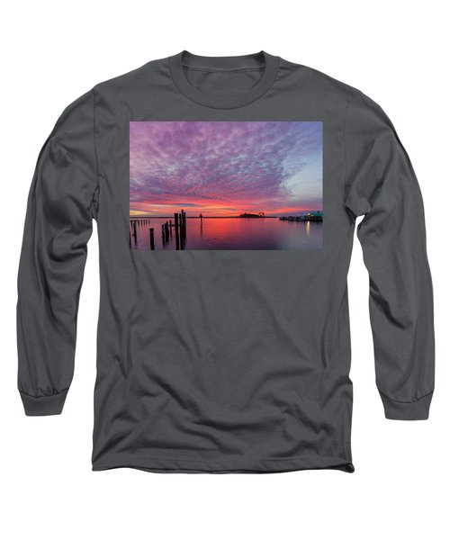 Saxis Sunset Long Sleeve T-Shirt by David Cote