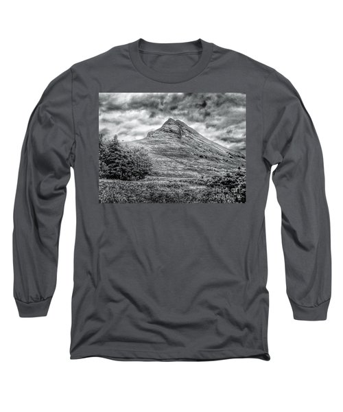 Scafell Pike In Greyscale Long Sleeve T-Shirt