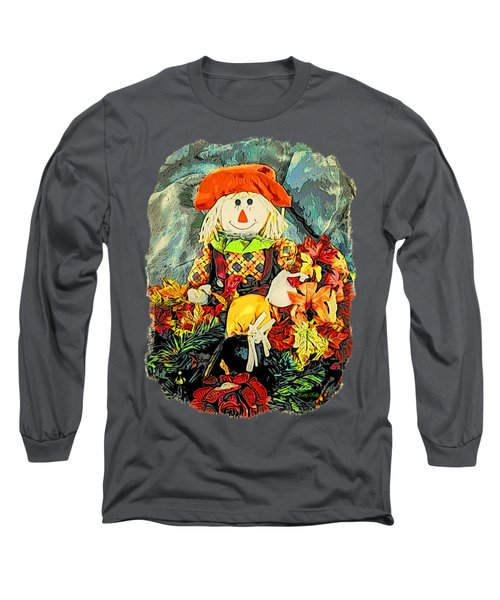 Long Sleeve T-Shirt featuring the photograph Scarecrow T-shirt by Kathy Kelly